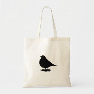 Robin-Silhouette-Liebe-Vogel-Aufpassen Tragetasche