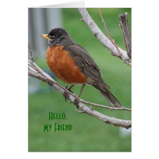 """Robin, Thinkin"""" von Ihnen, Beifall Karte"""