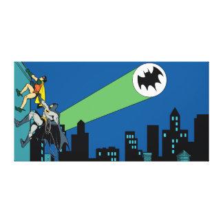 Robin und Batman-Aufstieg Galerie Falt Leinwand