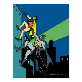 Robin und Batman-Aufstieg Postkarten