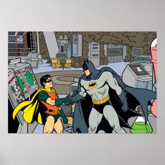 Robin und Batman-Händedruck Plakatdruck