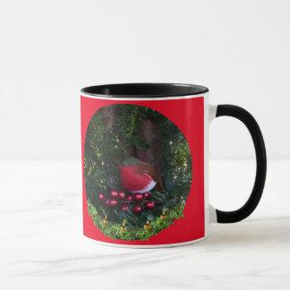 Robin und Beeren-Tasse Tasse