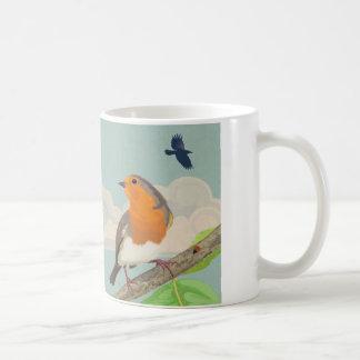 Robin und Marienkäfer Kaffeetasse