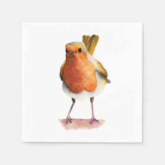 Robin-Vogel-Aquarell-Malerei Papierserviette