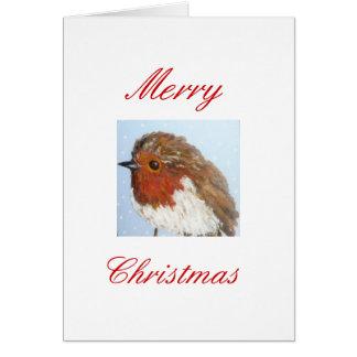 Robin-Weihnachtskarte Karte