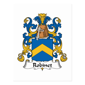 Robinet Familienwappen Postkarte