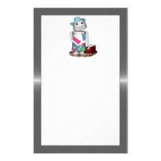 Robo-x9 am Strand (Metallhintergrund) Personalisiertes Büropapier
