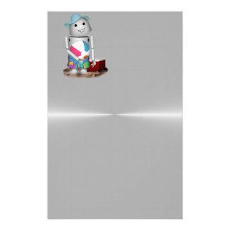 Robo-x9 am Strand (Metallhintergrund) Druckpapier