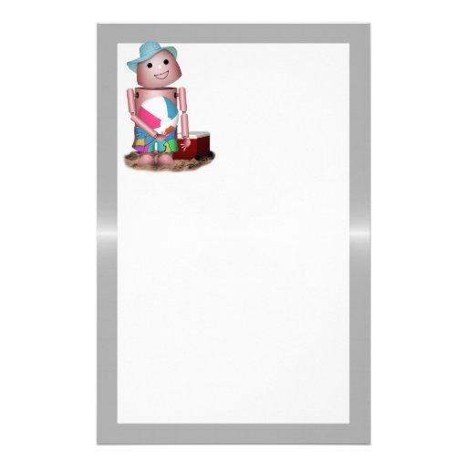 Robo-x9 vergaß den Lichtschutz (Metallhintergrund) Personalisiertes Druckpapier