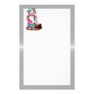 Robo-x9 vergaß den Lichtschutz (Metallhintergrund) Briefpapier
