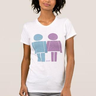 robot girl and boy T-Shirt