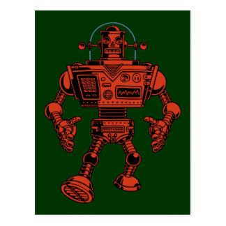 Roboter 313 - Rot Postkarte