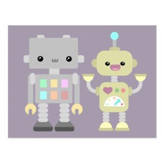 Roboter am Spiel Postkarte