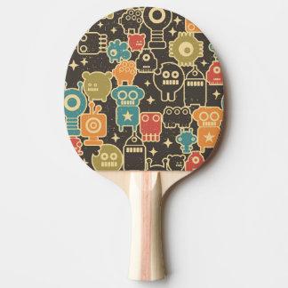 Roboter auf Braun Tischtennis Schläger