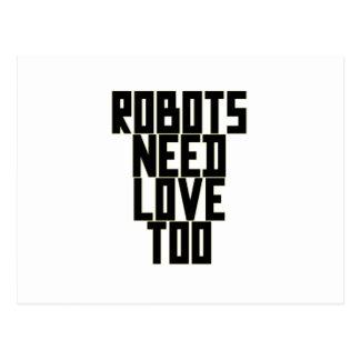 Roboter-Bedarfs-Liebe auch durch Chillee Wilson Postkarte