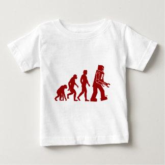 Roboter-Evolution des Mannes in Roboter Baby T-shirt