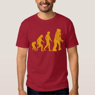 Roboter-Evolution Sheldon Fassbinder-großer Knall- Tshirts