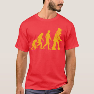 Roboter-Evolution Sheldon Fassbinder-großer T-Shirt