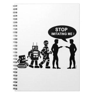 Roboter-Evolution Spiral Notizblock