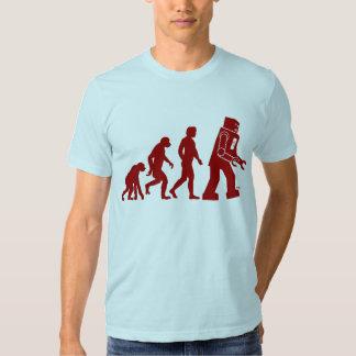 Roboter-Evolution - vom Mann in Roboter T Shirt