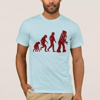 Roboter-Evolution - vom Mann in Roboter T-Shirt