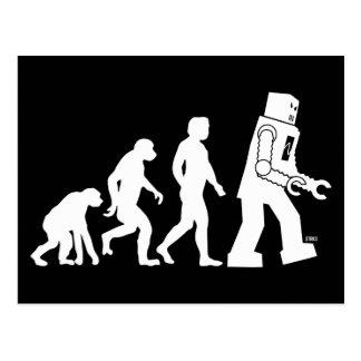 Roboter-Evolutions-Postkarte
