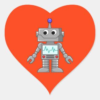 Roboter Freak Herz Sticker