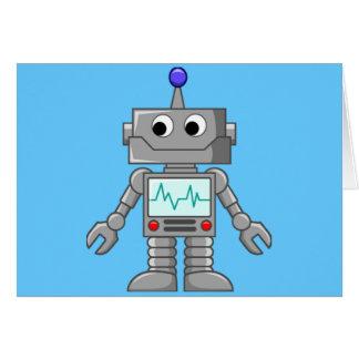 Roboter Freak Grußkarten