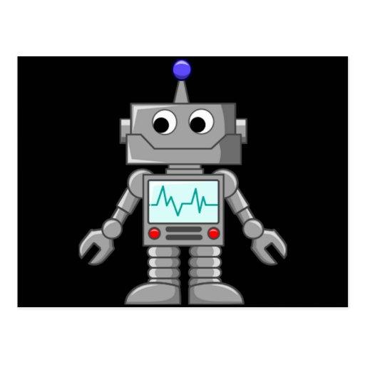 Roboter Freak Postkarte