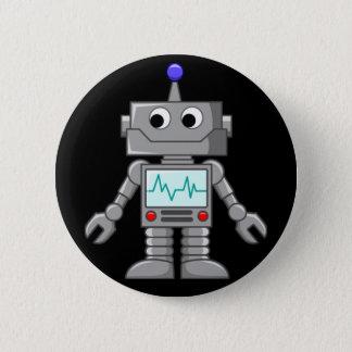 Roboter Freak Runder Button 5,1 Cm