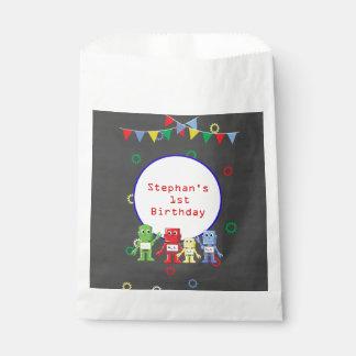 Roboter-Geburtstags-Gastgeschenk sackt Geschenktütchen