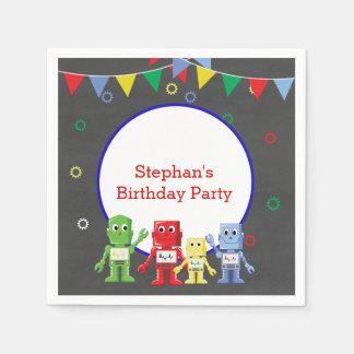 Roboter-Geburtstags-Partyservietten Papierserviette