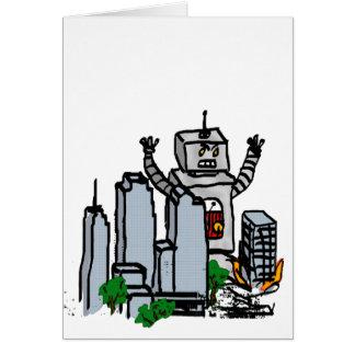 Roboter gegen Stadt Karte