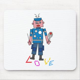 Roboter Liebe Mousepads