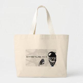 Roboter-Logo t des Cygnus X-1 u. Stückchen Jumbo Stoffbeutel