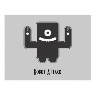 Roboter-Monster Postkarte