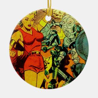 Roboter-Revolution Keramik Ornament