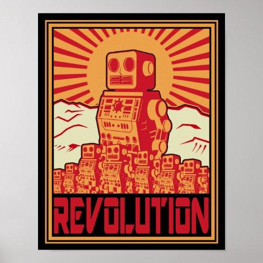 Roboter-Revolution Plakate