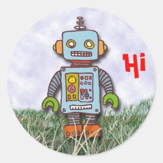 Roboter Runder Aufkleber