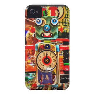 Roboter-Uhr gerecycelter Kunst iPhone 4 Fall iPhone 4 Case-Mate Hüllen