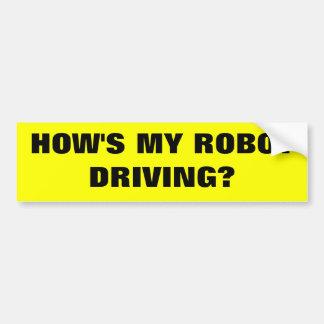 Roboterfahren Autoaufkleber
