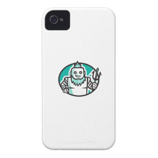 RoboterPoseidon, das Trident-ovales Retro hält iPhone 4 Cover