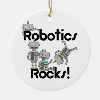 Robotik-Felsen Rundes Keramik Ornament