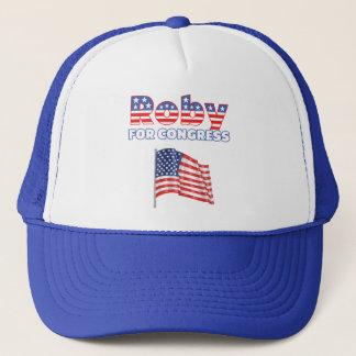 Roby für Kongress-patriotischen Flagge-Entwurf Truckerkappe
