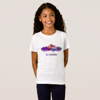 Rochester skyline im Watercolor T-Shirt