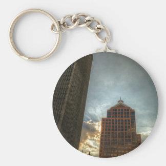 Rochester-Skyline in HDR Schlüsselanhänger