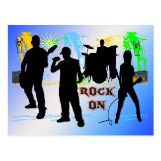 Rock an - schaukeln Sie n RollenBand-Postkarte Postkarte