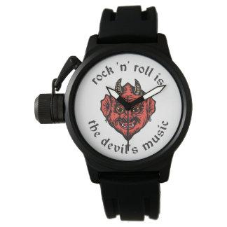 Rock-and-Roll ist die die Musik-Uhr des Teufels Uhr