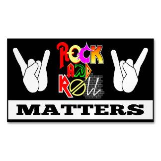 Rock-and-Roll ist Geschäfts-Magnet von Bedeutung Visitenkartenmagnet