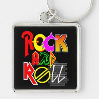 Rock-and-Roll Keychain (Schwarzes) Schlüsselanhänger
